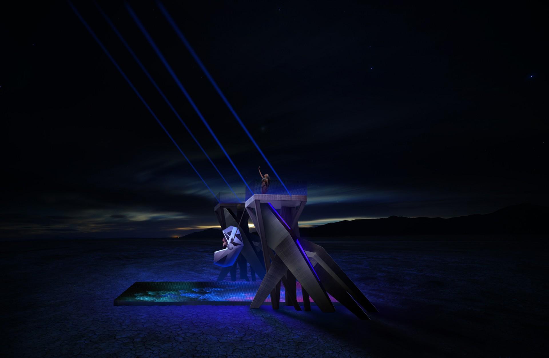 Telepathic Swings I Burning Man'18